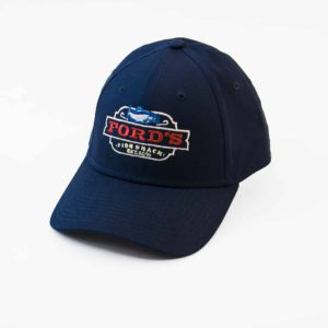 Front of Ford's Fish Shack Classic Baseball Cap in Aphotic Blue