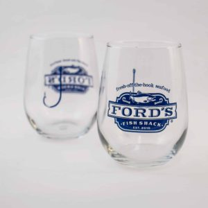 Ford's Fish Shack Wine Glasses
